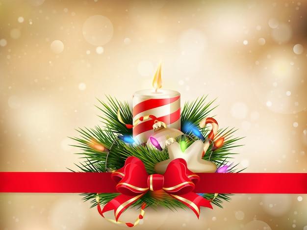 Weihnachtsillustration mit kerzen.