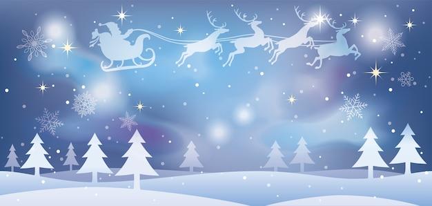 Weihnachtsillustration mit weihnachtsmann