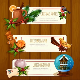 Weihnachtsillustrationsetikettensatz
