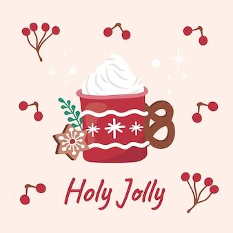 Weihnachtskaffee café dessert schlagsahne süße desserts