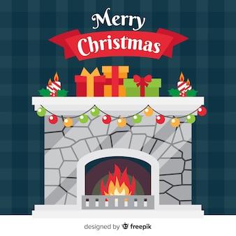 Weihnachtskaminszene