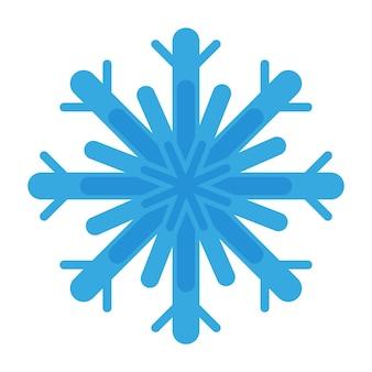 Weihnachtskarikatur festliche blaue schneeflocke. frohe weihnachten und ein glückliches neues jahr-konzept.