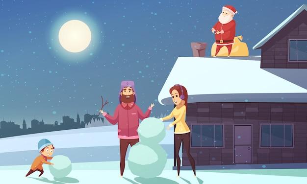 Weihnachtskarikatur