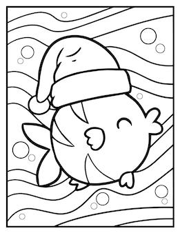 Weihnachtskarikaturfisch