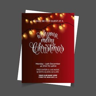Weihnachtskarte design roten hintergrund