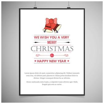 Weihnachtskarte elegantes design