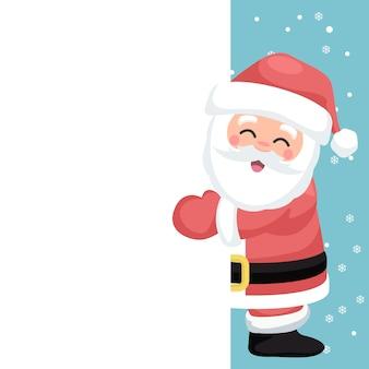 Weihnachtskarte für die widmung der glücklichen santa claus
