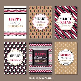 Weihnachtskarte gesetzt