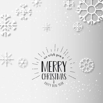 Weihnachtskarte mit eleganten design vektor