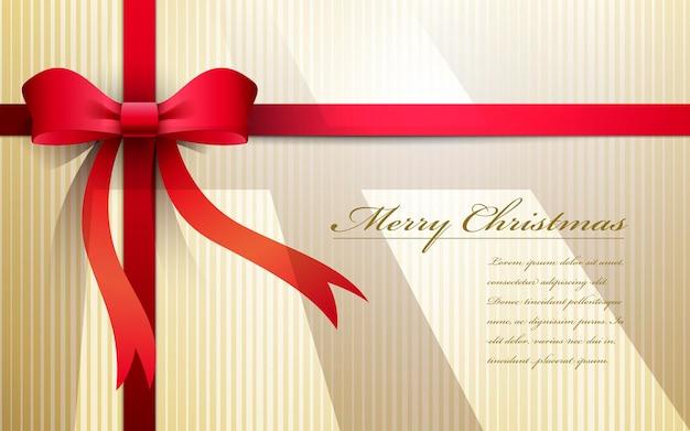 Weihnachtskarte mit farbigem band
