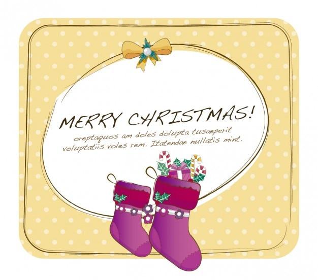 Weihnachtskarte mit gepunkteten hintergrund