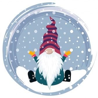 Weihnachtskarte mit gnome