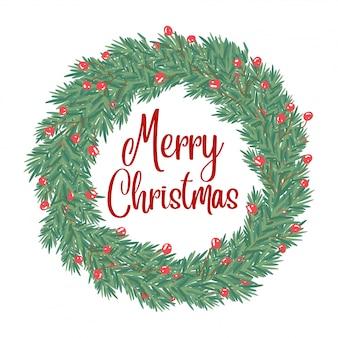 Weihnachtskarte mit gruß und grüßen