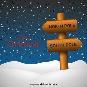Weihnachtskarte mit holzpfeile
