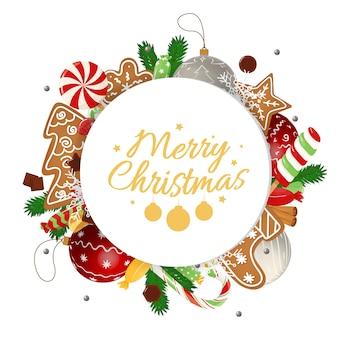 Weihnachtskarte mit kalligraphischen feiertagswünschen