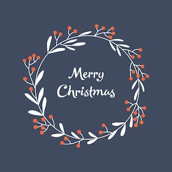 Weihnachtskarte mit kranz
