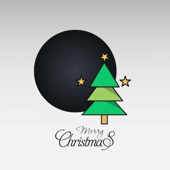 Weihnachtskarte mit kreativem elegantem design
