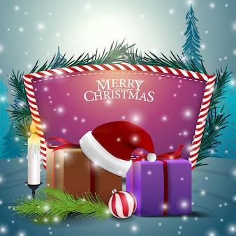 Weihnachtskarte mit lila textvorlage
