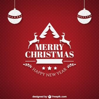 Weihnachtskarte mit ornamenten