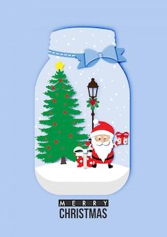 Weihnachtskarte mit Santa Claus