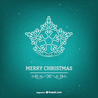 Weihnachtskarte mit schneeflocke türkis