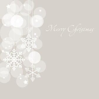 Weihnachtskarte mit schneeflocken