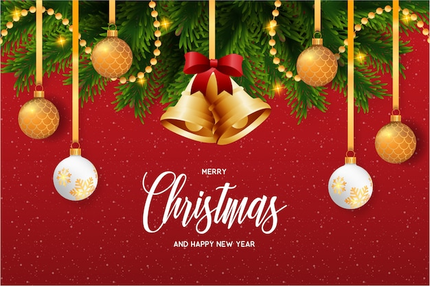 Weihnachtskarte mit schöner dekoration