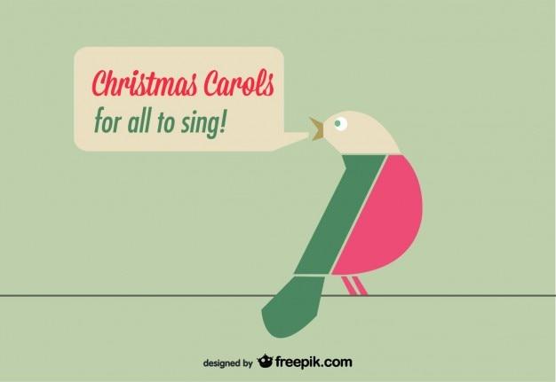 Weihnachtskarte mit vögeln