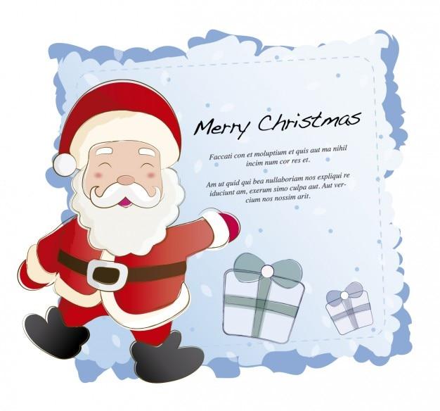 Weihnachtskarte mit weihnachtsmann-
