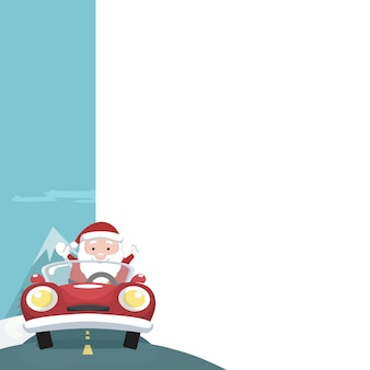 Weihnachtskarte von santa claus mit dem leeren zeichen zu schreiben