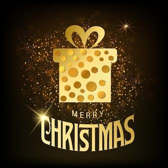 Weihnachtskarte weihnachts box vektor-illustration