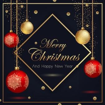 Weihnachtskarten auf schwarzem hintergrund