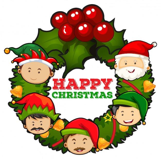 Weihnachtskarten-design mit misteln