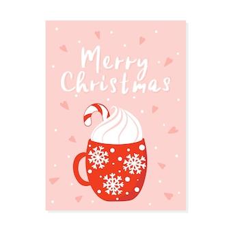 Weihnachtskarten-design. weihnachtsgrußkarte. fröhliche illustration mit weihnachtsartikeln