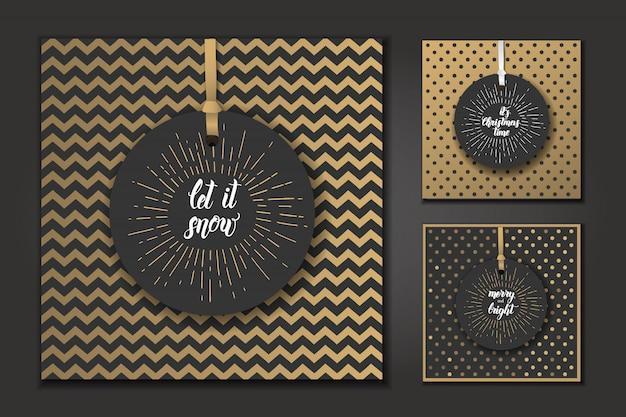 Weihnachtskarten mit handgemachten modischen zitaten