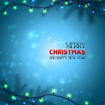Weihnachtskartenbeleuchtung in der nacht mit schneeflocken
