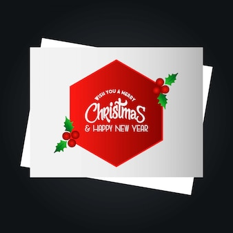 Weihnachtskartendesign mit elegantem design und dunklem hintergrund ve