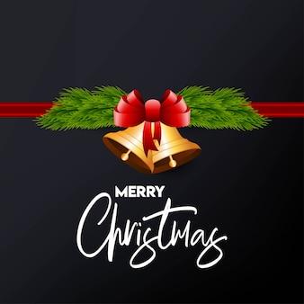 Weihnachtskartendesign mit elegantem design und dunklem hintergrundvektor