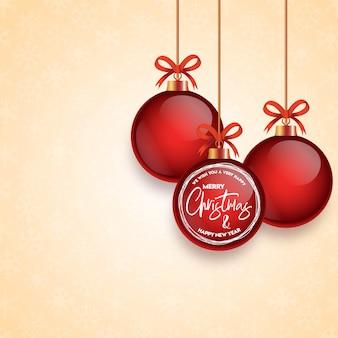 Weihnachtskartendesign mit elegantem design und hellem goldenem hintergrundvektor