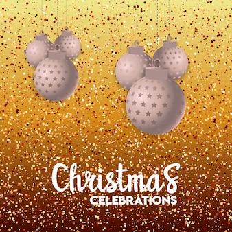 Weihnachtskartendesign mit elegantem design und kreativem hintergrund