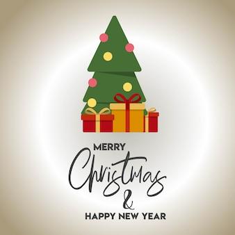 Weihnachtskartendesign mit elegantem designvektor