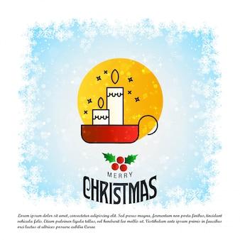 Weihnachtskartenentwurf mit elegantem design