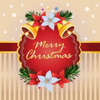 Weihnachtskartenglocke eine weihnachtssterndekoration