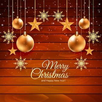 Weihnachtskartenhintergrund mit holz
