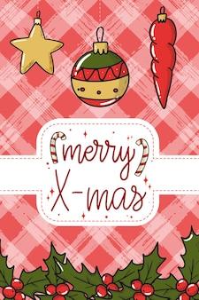 Weihnachtskartenplakat mit schriftzitat