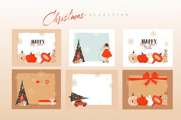 Weihnachtskartenzusammensetzung