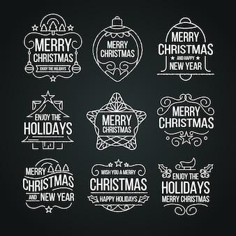 Weihnachtskennsatzsammlung auf tafel
