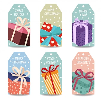 Weihnachtskennzeichnungssammlung withgift boxen