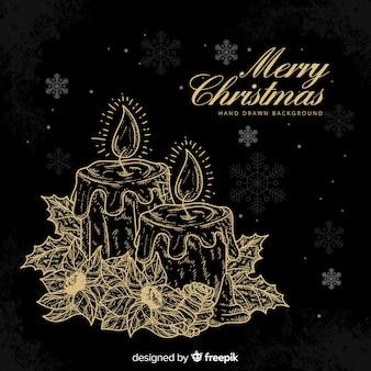 Weihnachtskerze hintergrund