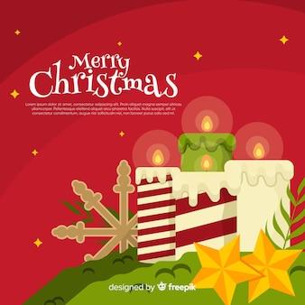 Weihnachtskerze hintergrundvorlage